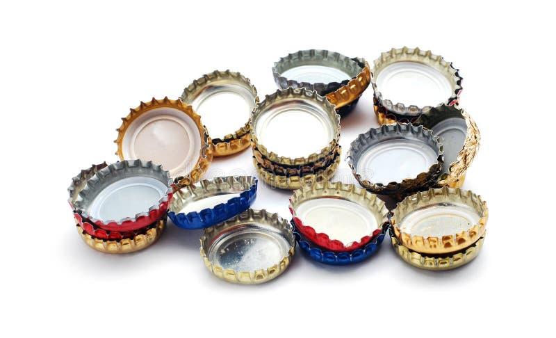 Casquillos de la cerveza imagen de archivo libre de regalías
