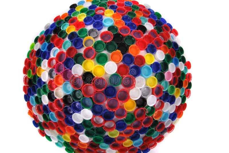 Casquillos del plástico del color foto de archivo