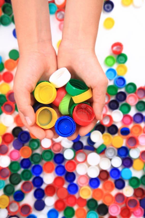 Casquillos del plástico del color fotografía de archivo libre de regalías