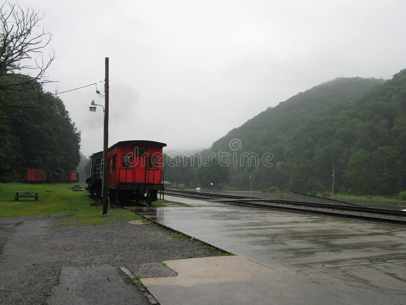 Cass西维吉尼亚盘旋火车驻地 免版税库存照片