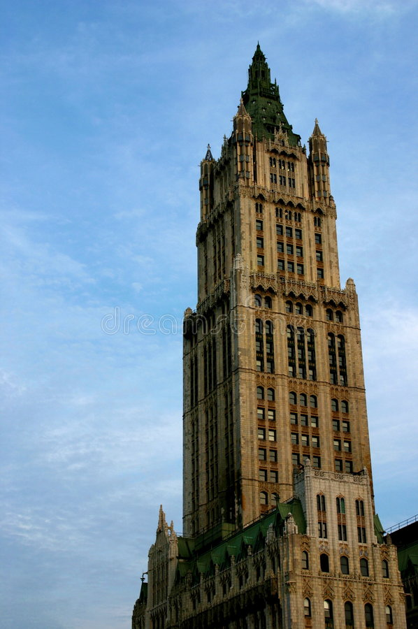 Cass Gilbert's Woolworth Building royalty free stock photography