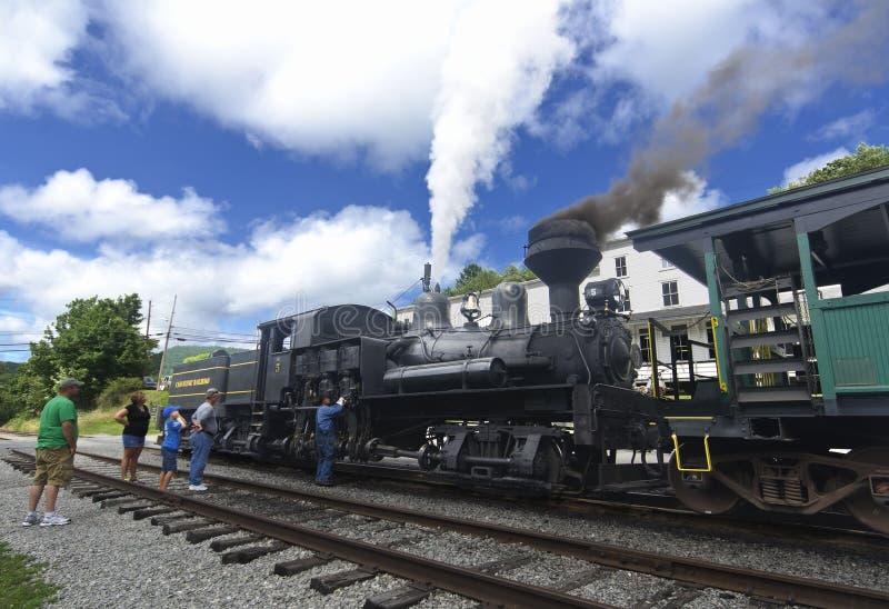 Cass Scenic Excursion Train - 3 lizenzfreies stockfoto