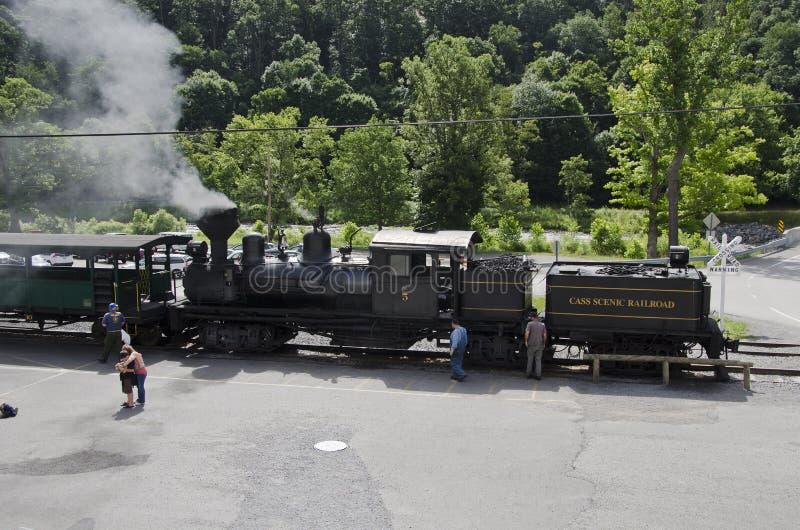 Cass Scenic Excursion Train - 2 fotos de archivo libres de regalías