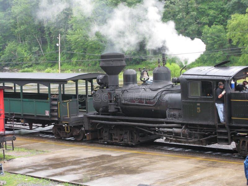 Cass West Virginia Scenic Railway-Station stockfotografie