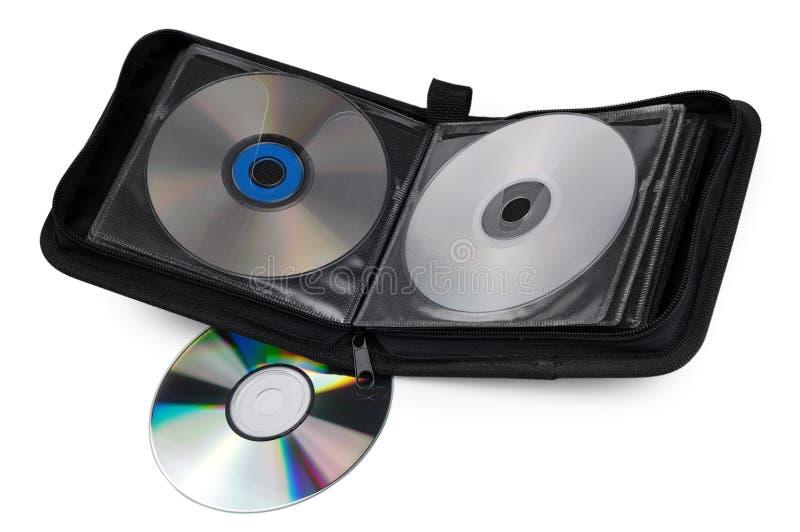Cassa CD su una priorità bassa bianca immagini stock libere da diritti