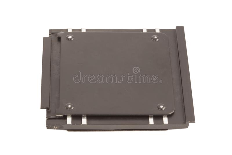 Cassa del metallo dello scorrevole della foto immagini stock