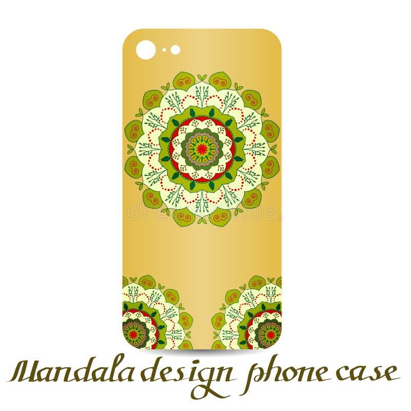 Cassa del telefono di progettazione della mandala Elementi decorativi illustrazione vettoriale