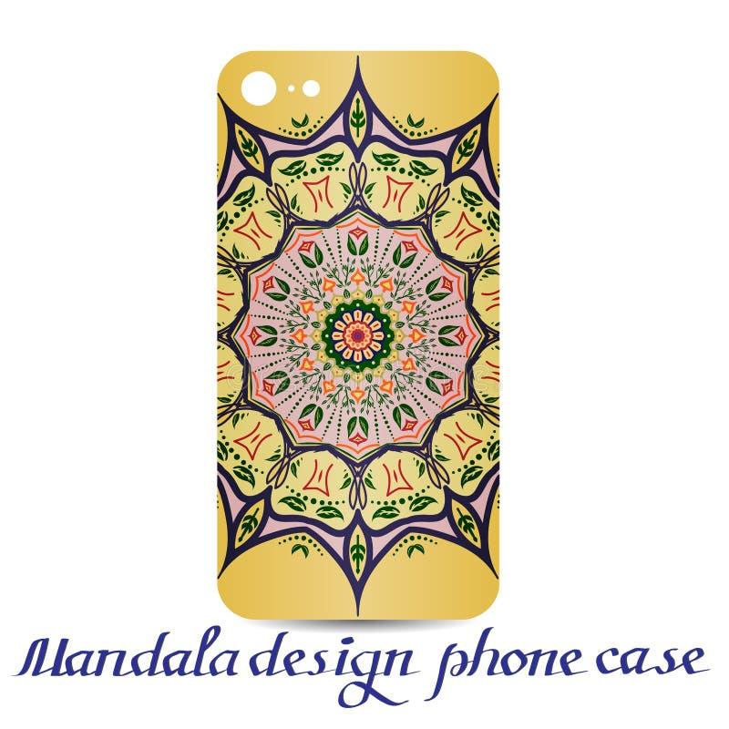 Cassa del telefono di progettazione della mandala Elementi decorativi royalty illustrazione gratis
