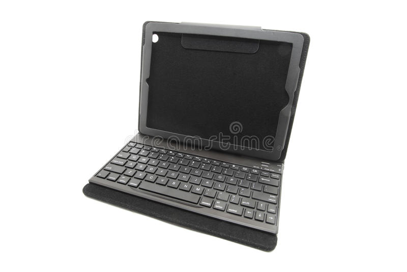 Cassa della compressa con la tastiera immagine stock