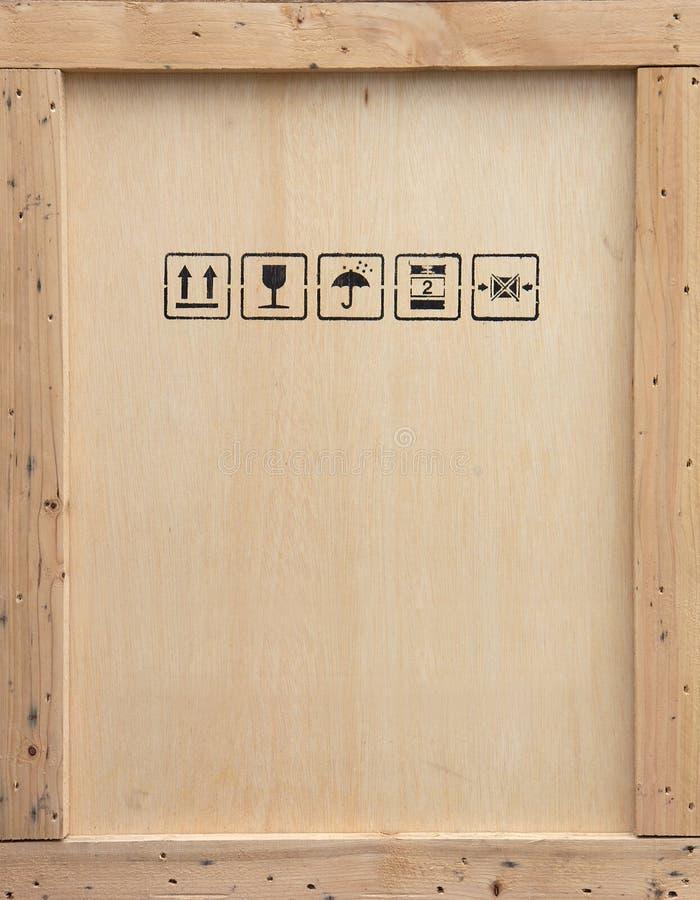 Cassa di legno di trasporto immagine stock