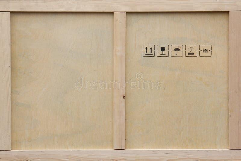 Cassa di legno di trasporto. fotografia stock