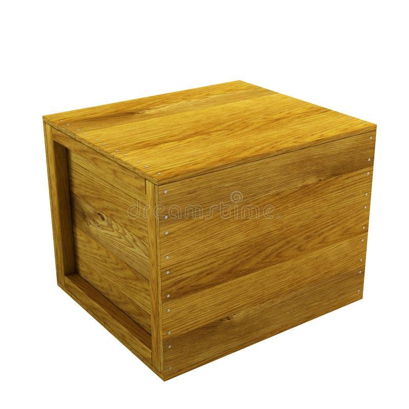 Cassa di legno isolata royalty illustrazione gratis