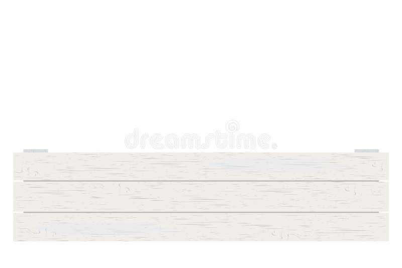 Cassa di legno isolata sull'illustrazione bianca di vettore del fondo royalty illustrazione gratis