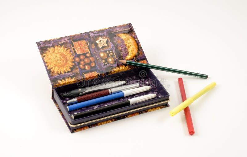 Cassa di matita fotografia stock libera da diritti