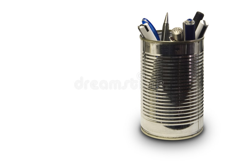 Cassa di matita immagine stock