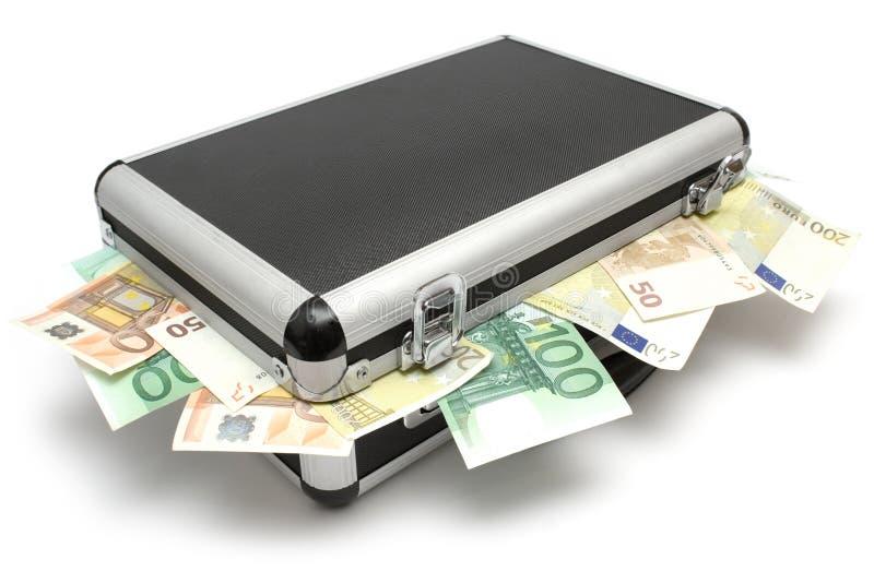 Cassa di menzogne dei soldi fotografia stock