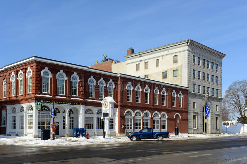 Cassa di risparmio di New Hampshire, accordo, NH, U.S.A. fotografie stock