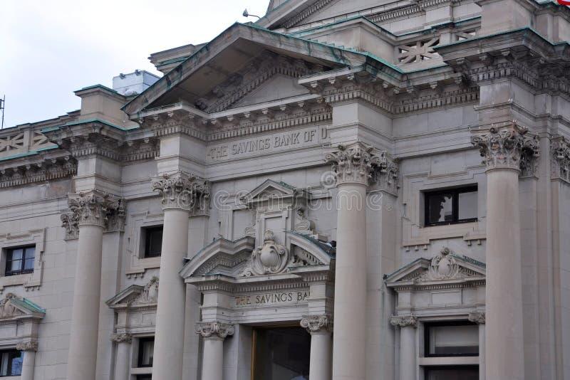 Cassa di risparmio Stato di New York di Utica, Utica, U.S.A. fotografie stock