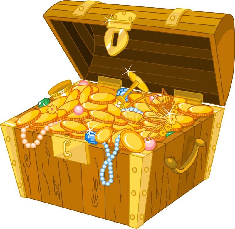 Cassa di tesoro royalty illustrazione gratis