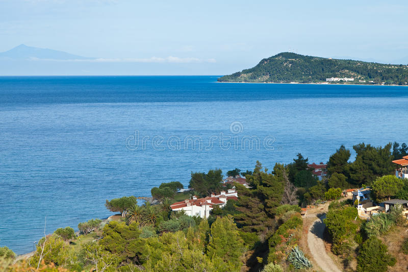 Cassandra Chalkidiki Grecia 2 fotografia stock