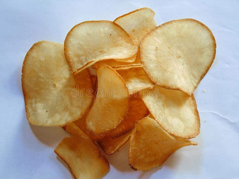 Cassava Chips royalty free stock photos