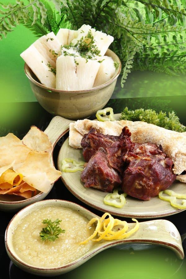 Cassava products stock image