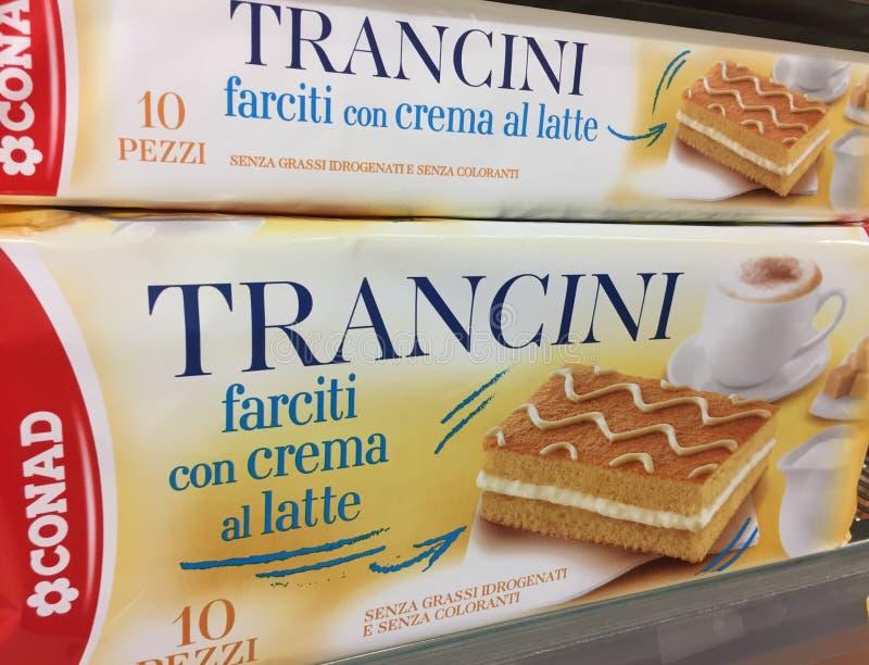 Casse-croûte cuit au four italien de Trancini images libres de droits