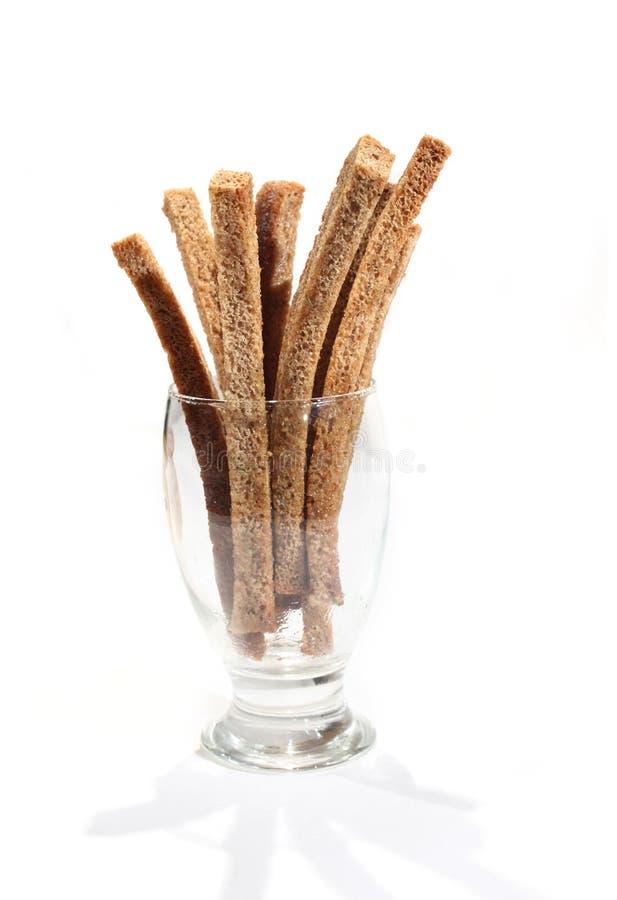 Casse-croûte de bière - pain grillé salé de pain de seigle images stock