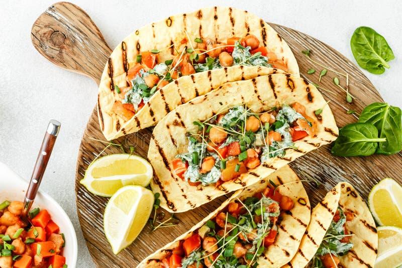 Casse-croûte végétarien de tacos photo libre de droits