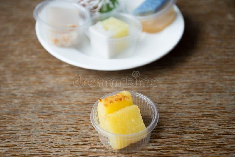 Casse-croûte de dessert une fois étendu images libres de droits