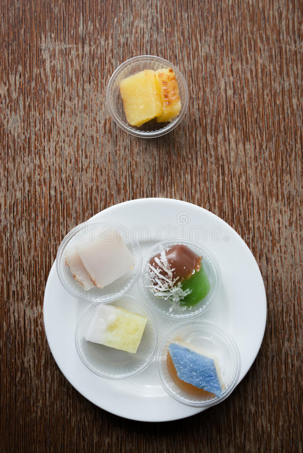 Casse-croûte de dessert une fois étendu images stock