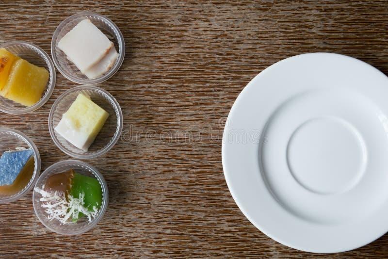 Casse-croûte de dessert une fois étendu photographie stock libre de droits