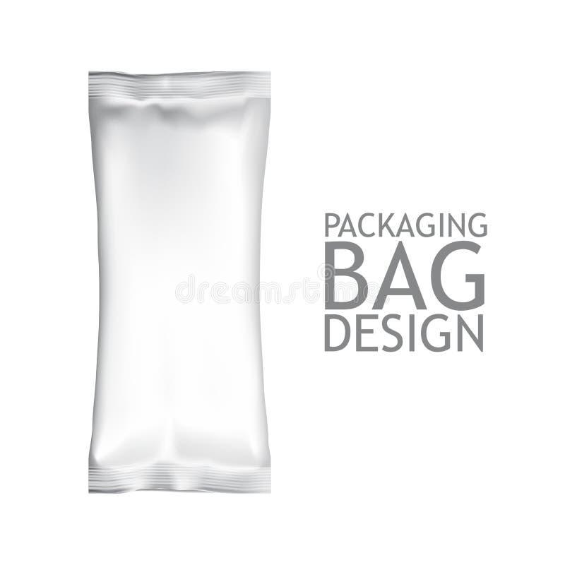 Casse-croûte de nourriture d'aluminium de maquette illustration de vecteur