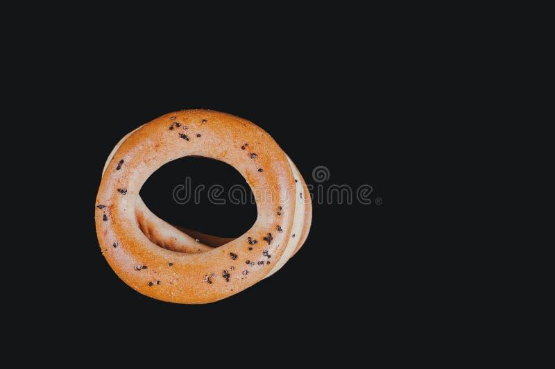 Casse-cro?te rapide entre des pauses, petits pains de caf? images libres de droits