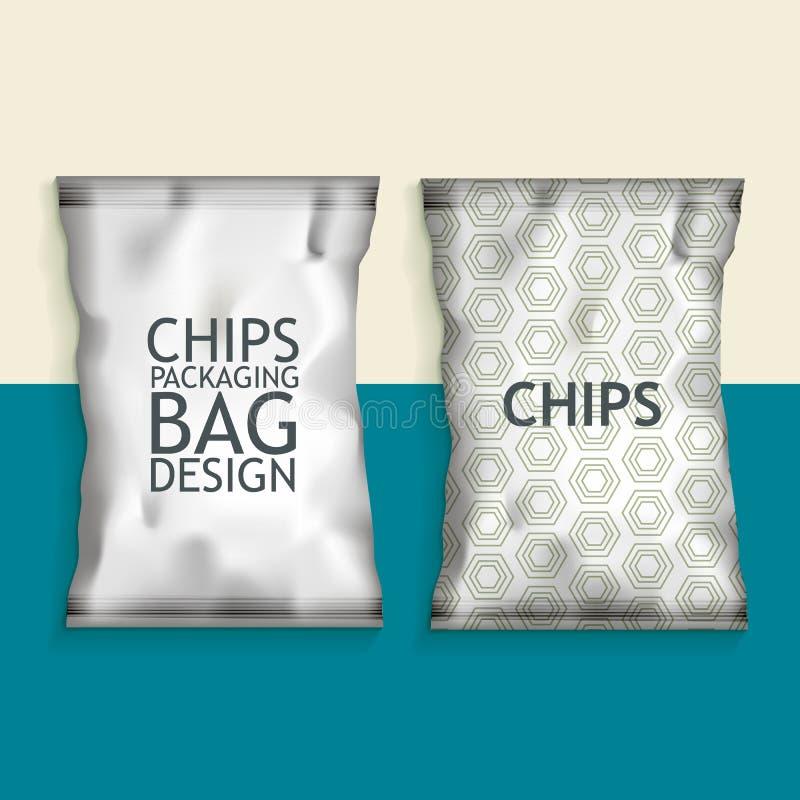 Casse-croûte vide de nourriture d'aluminium illustration libre de droits