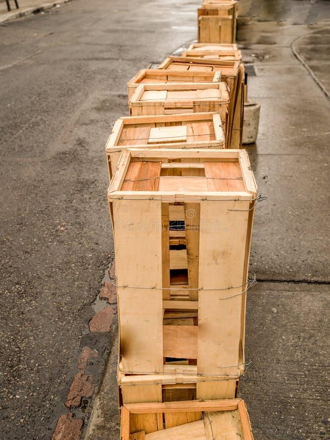 Casse di legno vuote fotografia stock