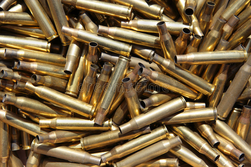 Casse di munizioni spese fotografia stock libera da diritti