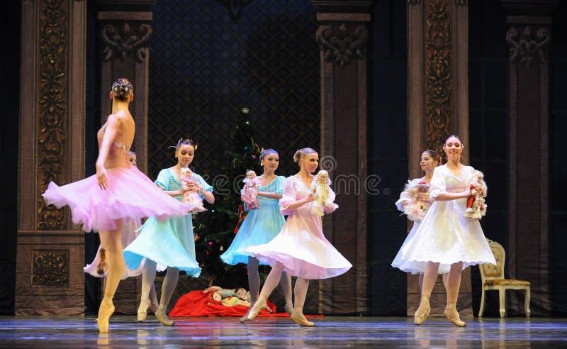 Casse-noix de ballet de poupée-Le de chiffon images libres de droits