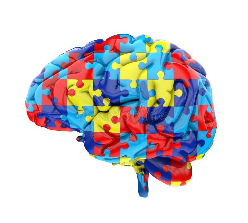 Casse-tête Brain Isolated illustration de vecteur