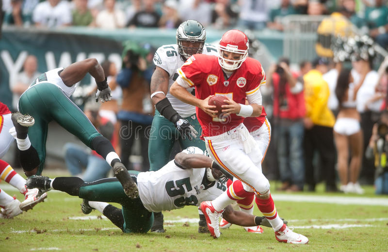 Cassell Chiefs. Kansas City Chief quarterback Matt Cassell against the Philadelphia Eagles 2009 stock photography