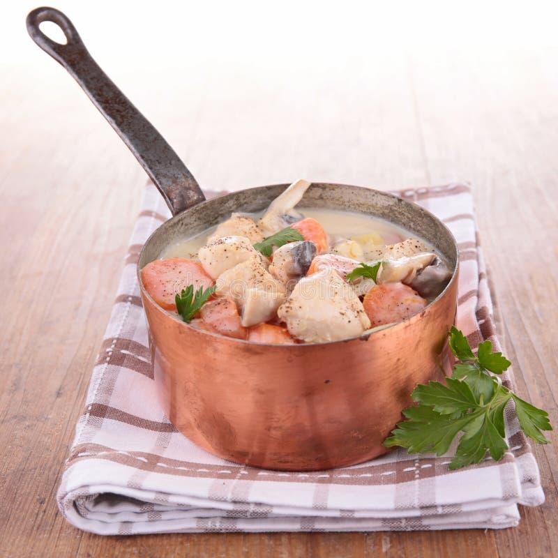 Casserole με το κρέας και το λαχανικό στοκ εικόνες