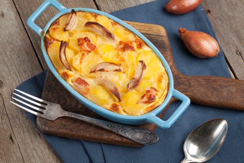 Casserole πατατών στοκ εικόνες