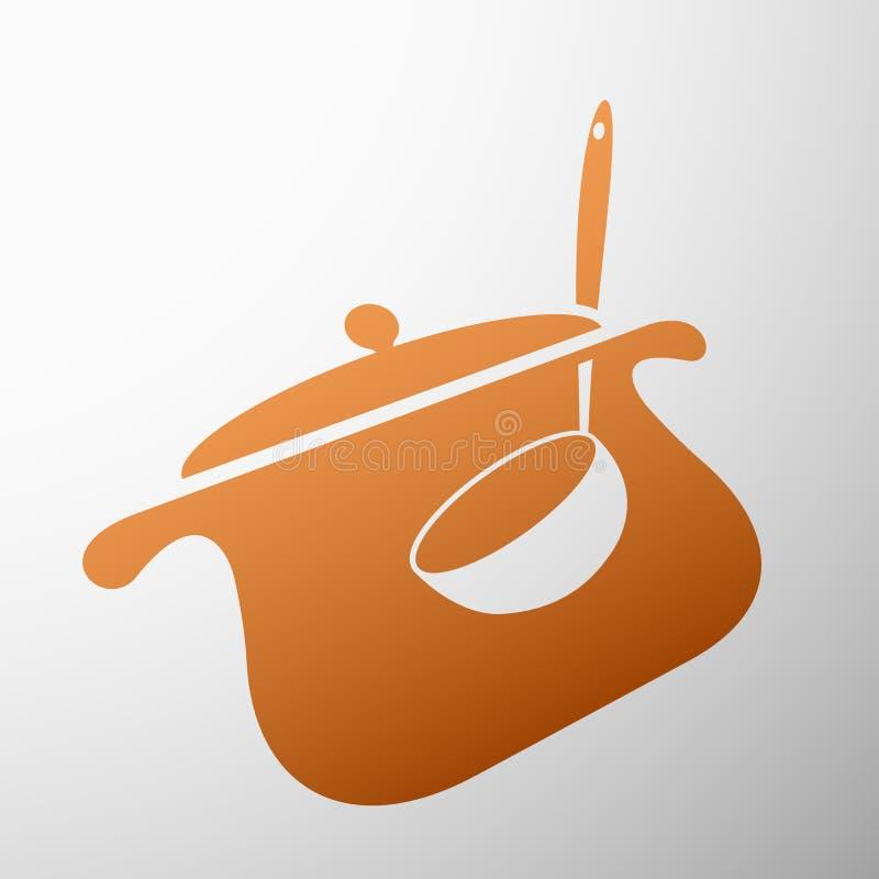Casserole avec une poche illustration de vecteur