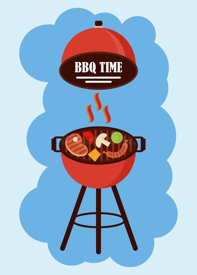 Casserole de gril de BBQ illustration libre de droits