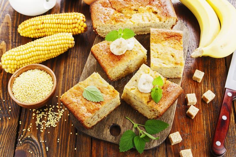 Casserole de milho com banana imagens de stock royalty free