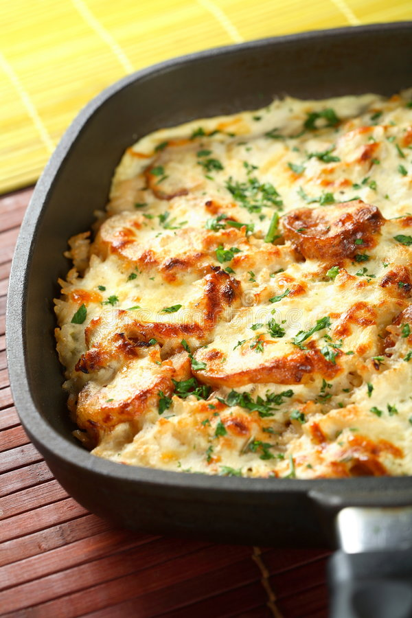 Download Casserole with rice stock image. Image of delicious, brown - 2166099
