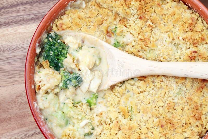 Casseruola del broccolo del pollo immagine stock libera da diritti