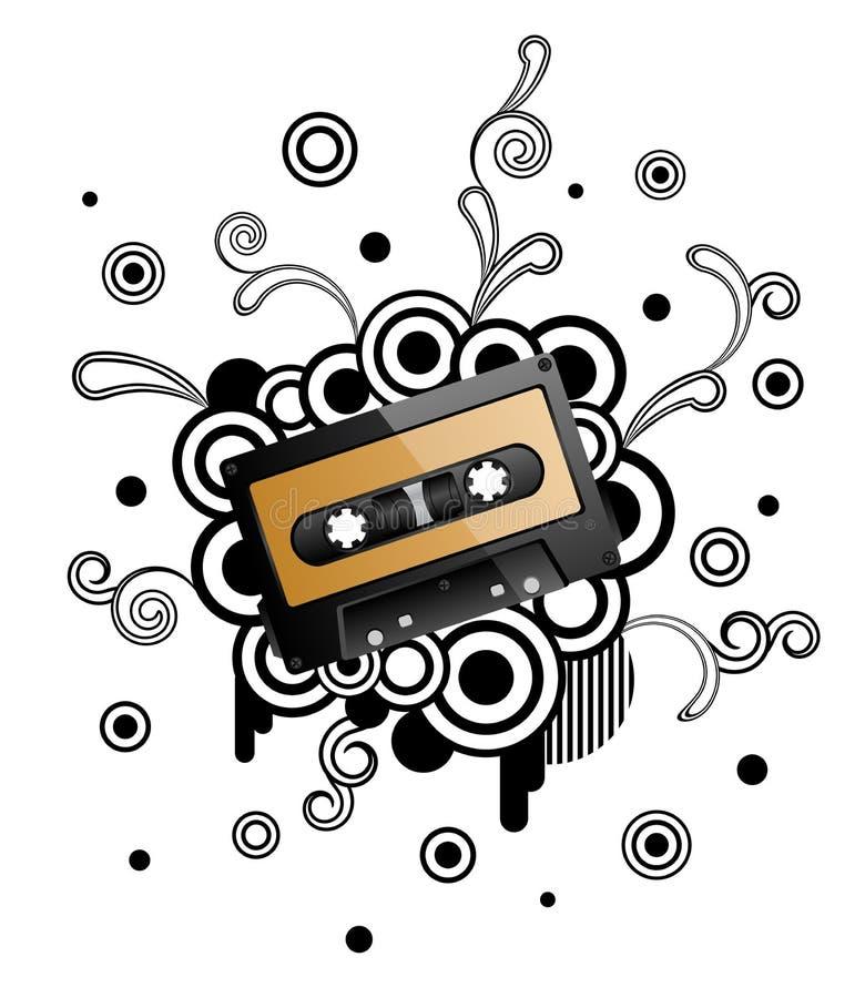 Cassete áudio ilustração stock