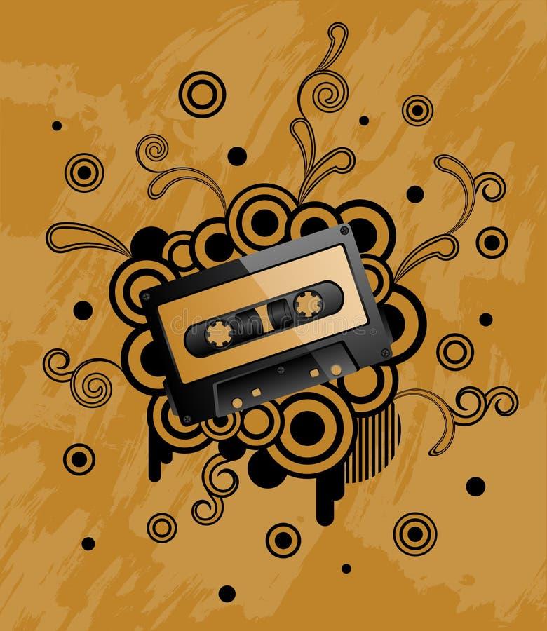Cassete áudio ilustração do vetor