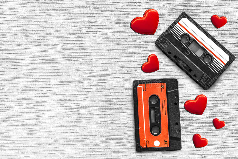 Cassete áudio velha imagem de stock royalty free